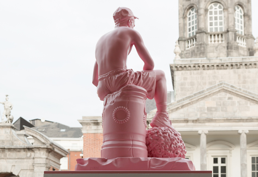 David & Goliath 3D printed sculpture