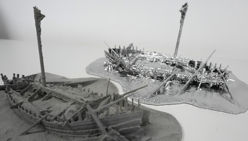 3D print of Black Sea Roman Shipwreck