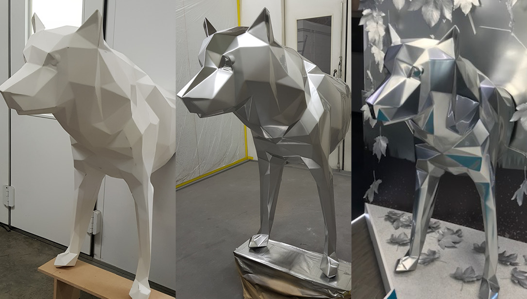 Faceted POS Wolf