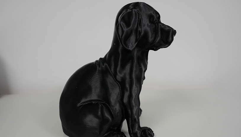 3D Printed Black Dog