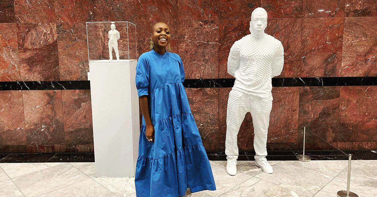 Rayvenn D'Clark at the Body + Soul Exhibition